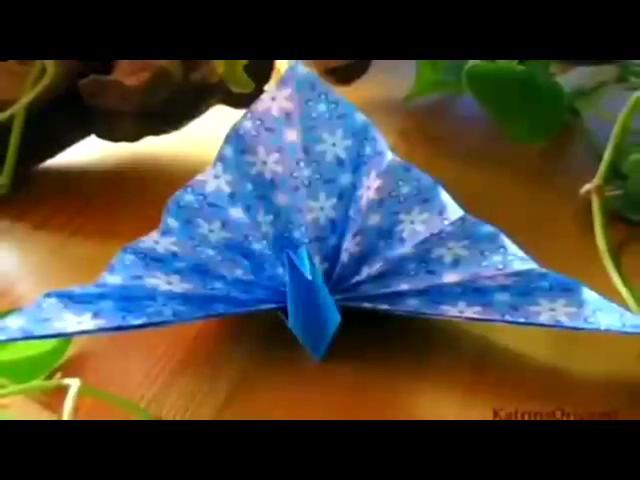 折纸大全 折纸教程 孔雀开屏 手工制作
