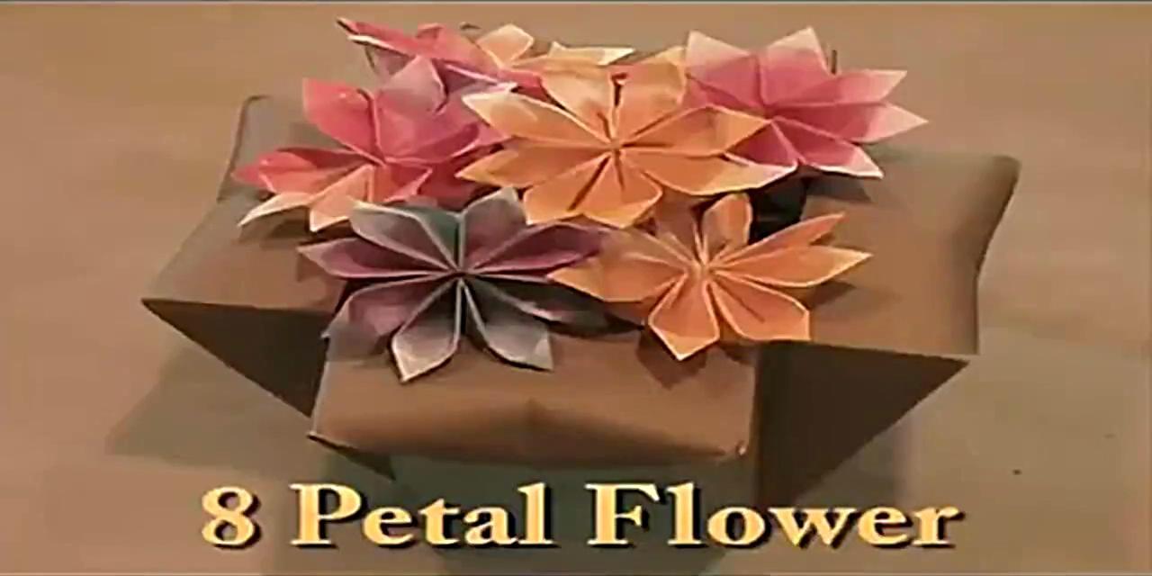手工制作大全 折纸花 8瓣花折法