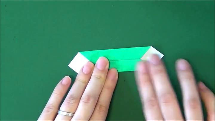 儿童折纸大全※冬青树叶子的折法 简单易学折纸