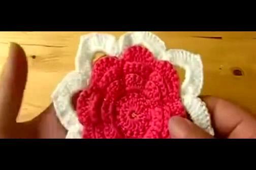 钩针入门 手工钩编包包 花朵 杯垫编织 单元花