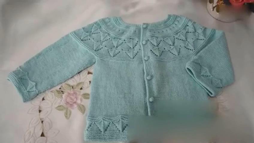 花样5000 儿童毛衣编织视频从上往下棒针编织宝宝