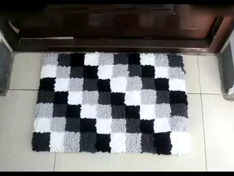 鉤針入門 門墊坐墊沙發墊地墊的織法鉤針圖片