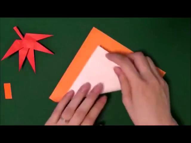 折纸大全 怎样diy手工折纸枫叶