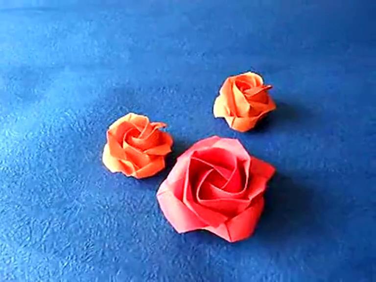 折纸大全图解 折纸大师教你折玫瑰花 母亲节礼物 1717309:50 折纸盒子