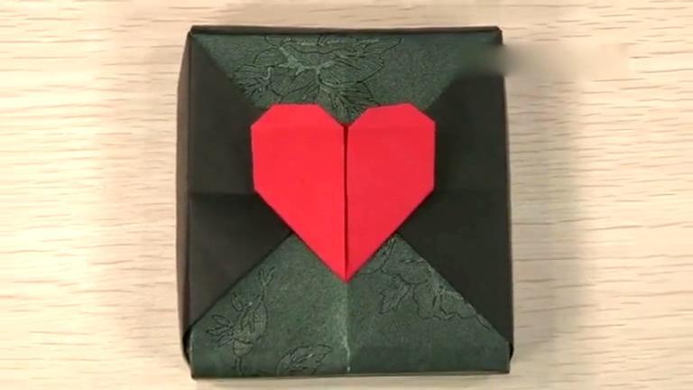 折纸大全 如何折爱心礼盒