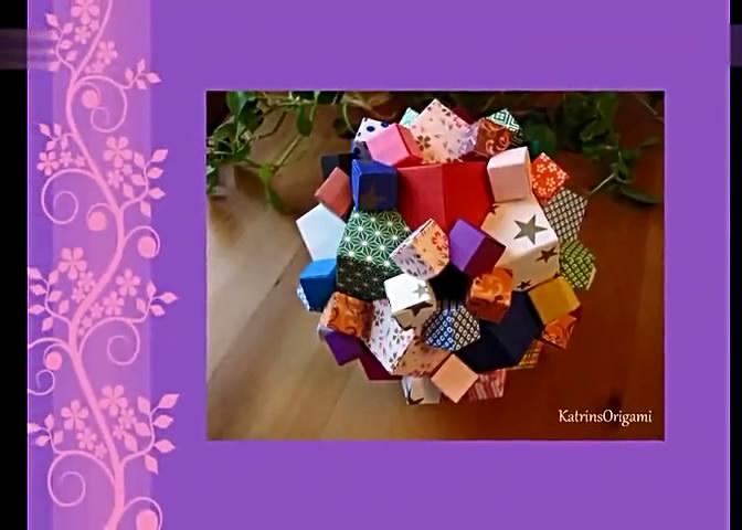 皱纹纸花折法视频 diy