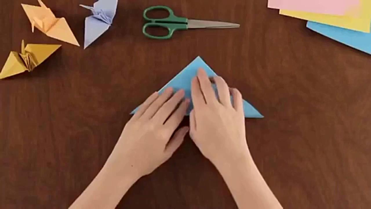儿童折纸 手工制作大全 折纸 千纸鹤 折法视频