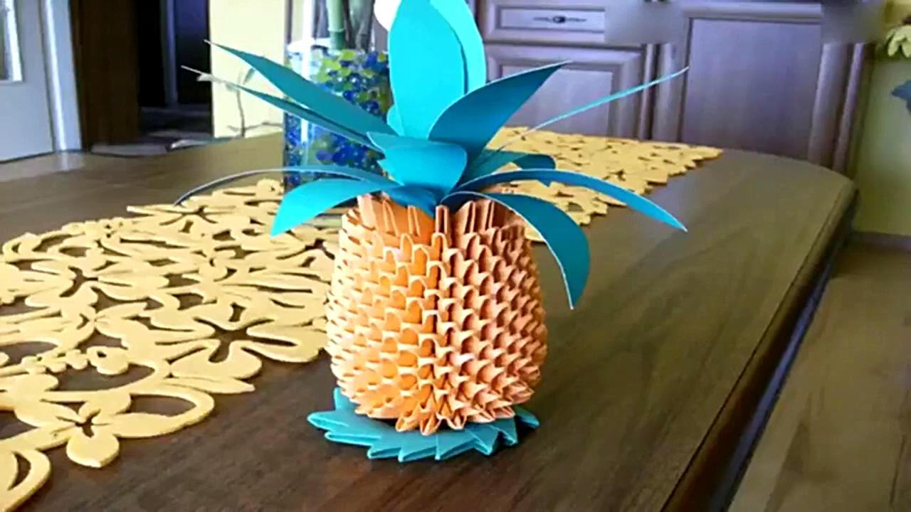 手工制作大全 折纸 立体3d菠萝