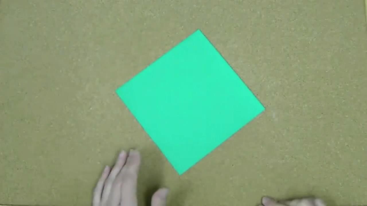 折纸大全diy手工折纸 幸运草叶子