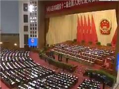 十二届全国人大三次会议举行第二次全体会议