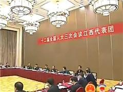 江西代表团举行全体会议审查计划报告和预算报告