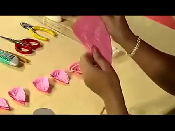 时尚diy折纸玫瑰花教程视频
